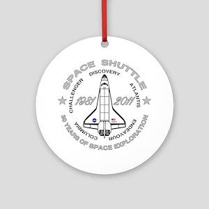 Space Shuttle_cafepress_2_dark Round Ornament