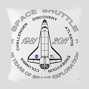 Space Shuttle_cafepress_2_dark Woven Throw Pillow