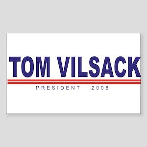 Tom Vilsack (simple) Rectangle Sticker