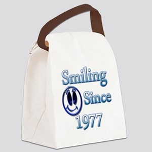 Smiling Since 1977 Canvas Lunch Bag