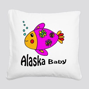Alaska Baby copy (1) Square Canvas Pillow