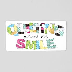 Quilting Smile Aluminum License Plate