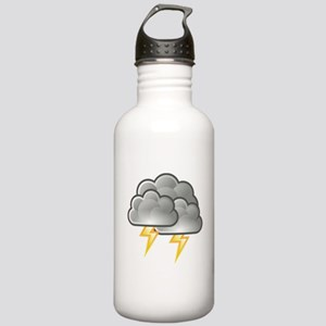 Lightning Bolts in Storm Clouds Water Bottle