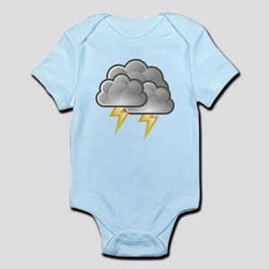 Lightning Bolts in Storm Clouds Body Suit