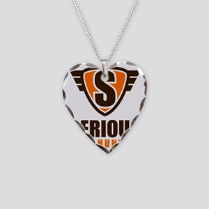 serious_crest_1_and_text-01 Necklace Heart Charm