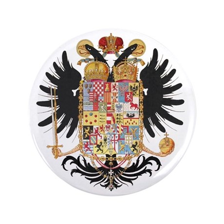 "German Coat of Arms Wappen Kaiser Jose 3.5"" Button"