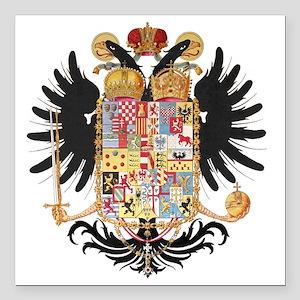 "German Coat of Arms Wapp Square Car Magnet 3"" x 3"""