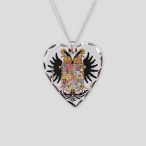 German Coat of Arms Wappen Ka Necklace Heart Charm
