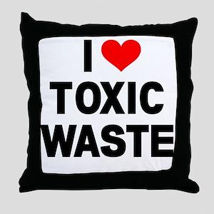 I-Heart-Toxic-Waste Throw Pillow