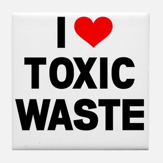I-Heart-Toxic-Waste Tile Coaster