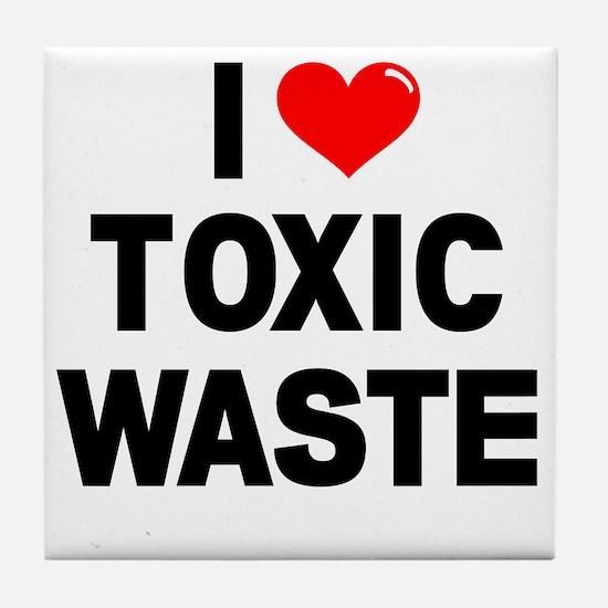 I-Heart-Toxic-Waste-Marked Tile Coaster