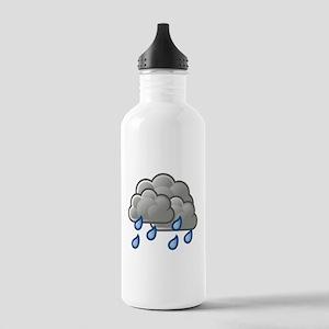 Rain Storm Clouds Water Bottle