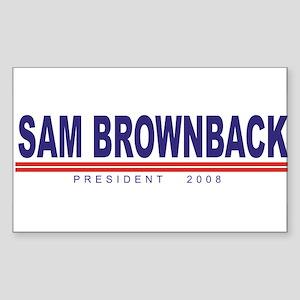 Sam Brownback (simple) Rectangle Sticker