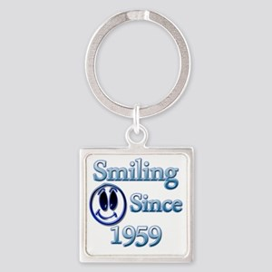 Smiling Since 1959 Square Keychain