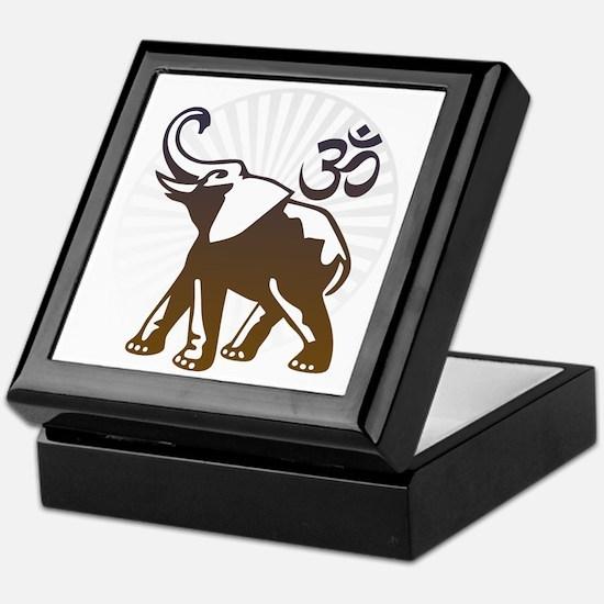 ganesha1-lightbg Keepsake Box