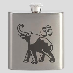 ganesha1-BW4lightbg Flask