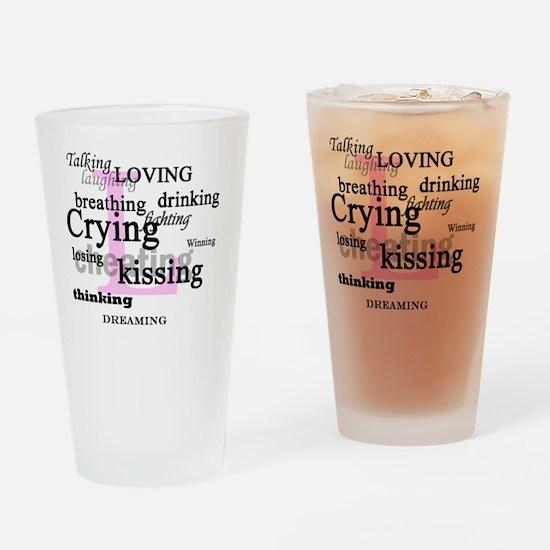 The L Word Lyrics Drinking Glass