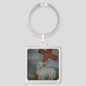 The Lamb of God Square Keychain