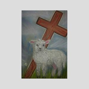 The Lamb of God Rectangle Magnet