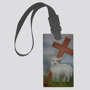 The Lamb of God Large Luggage Tag