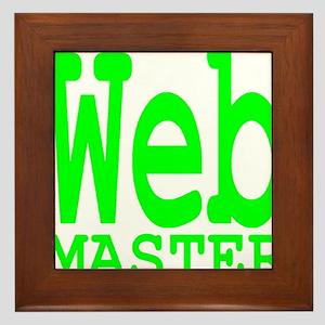 web_master_transparent_neon Framed Tile