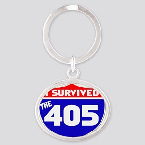 survived405 Oval Keychain
