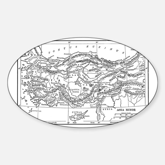 asiaminormap(hkns179) Sticker (Oval)