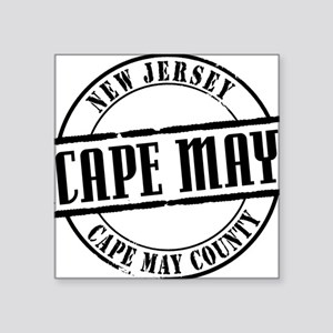 "Cape May Title W Square Sticker 3"" x 3"""