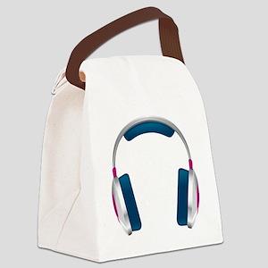 HEADPHONES Canvas Lunch Bag