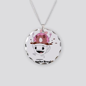 coffee donut apparel Necklace Circle Charm