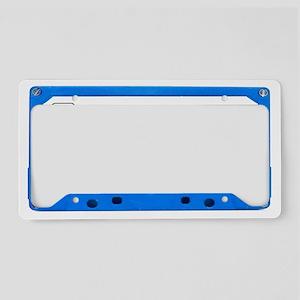 blue_long License Plate Holder