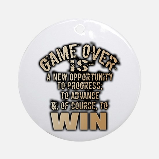 GAME OVER Round Ornament