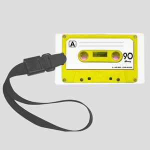 yellow_cassette Large Luggage Tag