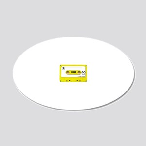 yellow_cassette 20x12 Oval Wall Decal