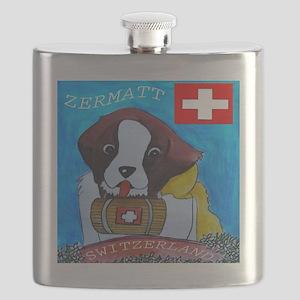 ZERMATT DOG TILE Flask