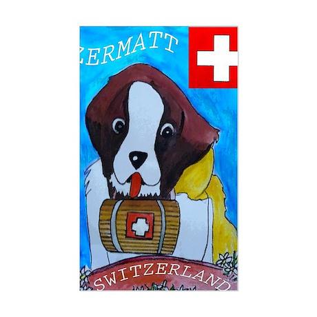 St Bernard card Sticker (Rectangle)