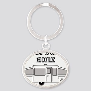 HomeSweetHomePopUp Oval Keychain