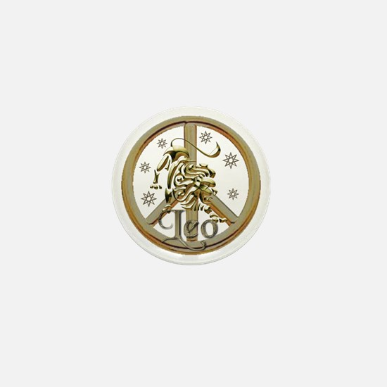 leo_zodiac_peace10x Mini Button