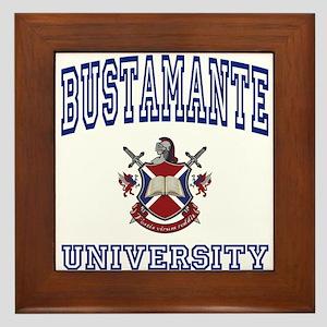 BUSTAMANTE University Framed Tile