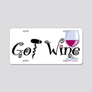 Got-Wine Aluminum License Plate