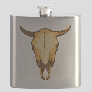 COW SKULL - colored Flask