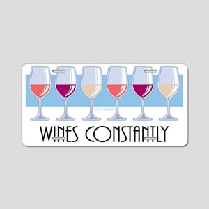 Wines-Constantly Aluminum License Plate