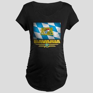 Bavaria (Flag 10) Maternity Dark T-Shirt