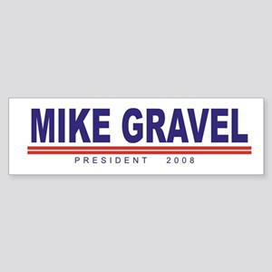 Mike Gravel (simple) Bumper Sticker
