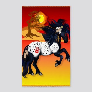 LargePosterAppaloosa War Pony backg 3'x5' Area Rug