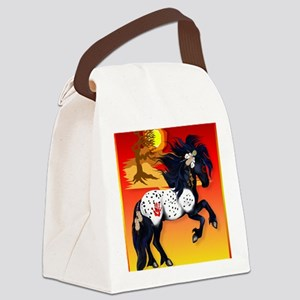 460_ipad_caseAppaloosa War Pony b Canvas Lunch Bag