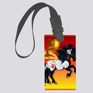 460_ipad_caseAppaloosa War Pony  Large Luggage Tag