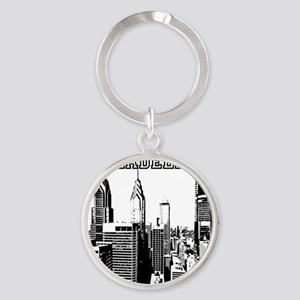 Philadelphia Round Keychain