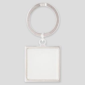 ganesha2-wht Square Keychain