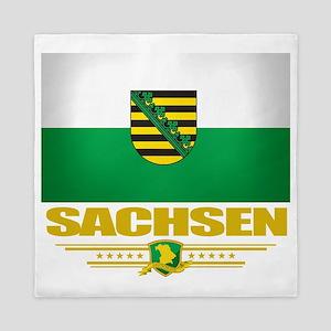 Sachsen (Flag 10) Queen Duvet